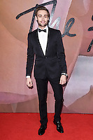 Douglas Booth<br /> at the Fashion Awards 2016, Royal Albert Hall, London.<br /> <br /> <br /> &copy;Ash Knotek  D3210  05/12/2016
