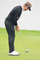 Matthew Baldwin (ENG) putts on the 13th green during Sunday's Final Round of the 2014 BMW Masters held at Lake Malaren, Shanghai, China. 2nd November 2014.<br /> Picture: Eoin Clarke www.golffile.ie