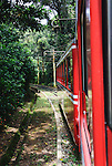 "Rio de Janeiro, Brazil: The famous train ""Trem do Corcovado"" travelling up to the mountain top of Corcovado with it's christ statue Christo Redentor. The 3.3km long electric cog wheel railway between Cosme Velho Station and the mountain top was opened in 1884 and runs through the rain forest with some breathtaking views onto Rio. --- No releases available."