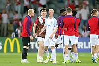 Matt Targett and Will Hughes of England is all smiles at the final whistle after England Under-21 vs Poland Under-21, UEFA European Under-21 Championship Football at The Kolporter Arena on 22nd June 2017