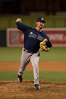 Seattle Mariners relief pitcher Austin Hutchison (66) during a Minor League Spring Training game against the Los Angeles Dodgers at Camelback Ranch on March 28, 2018 in Glendale, Arizona. (Zachary Lucy/Four Seam Images)