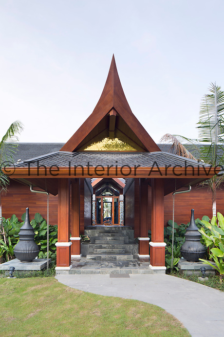 The Collectors' Villa, one of three villas at the Iniala guesthouse,  is a contemporary interpretation of traditional Thai architecture