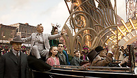 Danny DeVito, Michael Keaton, Colin Farrell, Eva Green, Nico Parker & Finley Hobbins<br /> Dumbo (2019) <br /> *Filmstill - Editorial Use Only*<br /> CAP/RFS<br /> Image supplied by Capital Pictures