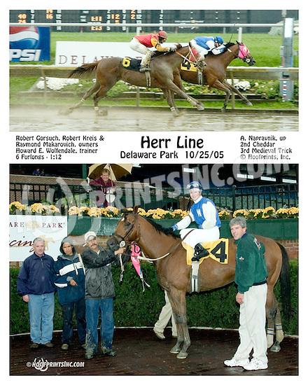 Herr Line winning at Delaware Park on 10/25/05