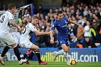Cesar Azpilicueta of Chelsea in action during Chelsea vs Fulham, Premier League Football at Stamford Bridge on 2nd December 2018