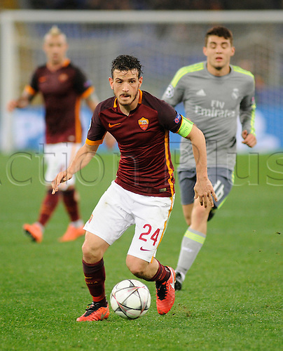 17.02.2016. Stadio Olimpico, Rome, Italy. UEFA Champions League, Round of 16 - first leg, AS Roma versus Real Madrid.  Alessandro Florenzi in action