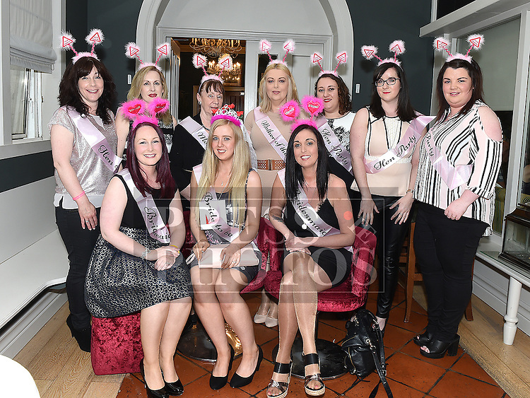 Rosana Phelan on her hen night with family and friends in West 29 in the Westcourt Hotel Photo:Colin Bell/pressphotos.ie
