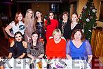 Bord Gais Killorglin staff enjoying their Christmas party in the Plaza Hotel on Saturday night front row l-r: Ester O'Connor Eileen Byrne, Jenny McKenna, Edel Collins, Back row:  Sarah Gleeson, Nickayla Brosnan, Ieva Bataityta, Rayann Coffey, Geraldine Sexton, Liah Knight.