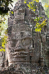 Angkor Thom East Gate, north face of tower, Cambodia