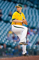 Starting pitcher Josh Turley #32 of the Baylor Bears in action against the Rice Owls at Minute Maid Park on March 6, 2011 in Houston, Texas.  Photo by Brian Westerholt / Four Seam Images