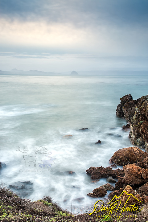 A stormy day on the California's Central Coast at Morro Bay.