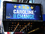 """Theatre Marquee unveiling  for the  Roundabout Theatre Company's revival of the Tony Kushner-Jeanine Tesori musical """"Caroline or Change"""" at Studio 54 on January 24, 2020 in New York City."""