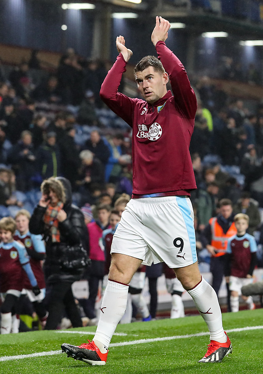 Burnley's Sam Vokes <br /> <br /> Photographer Andrew Kearns/CameraSport<br /> <br /> The Premier League - Burnley v Liverpool - Wednesday 5th December 2018 - Turf Moor - Burnley<br /> <br /> World Copyright &copy; 2018 CameraSport. All rights reserved. 43 Linden Ave. Countesthorpe. Leicester. England. LE8 5PG - Tel: +44 (0) 116 277 4147 - admin@camerasport.com - www.camerasport.com
