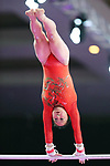 Yumika Nakamura (JPN), <br /> AUGUST 21, 2018 - Artistic Gymnastics : <br /> Women's Individual All-Around Uneven Bars <br /> at JIEX Kemayoran Hall D <br /> during the 2018 Jakarta Palembang Asian Games <br /> in Jakarta, Indonesia. <br /> (Photo by Naoki Nishimura/AFLO SPORT)
