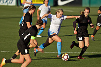 Portland, OR - Sunday March 11, 2018: Summer Green, Ashley Herndon during a National Women's Soccer League (NWSL) pre season match between the Portland Thorns FC and the Chicago Red Stars at Merlo Field.