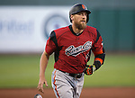 Sacramento River Cats' Hunter Pace hits a two-run homer against the Reno Aces at Greater Nevada Field in Reno, Nev., on Tuesday, July 26, 2016.  <br />Photo by Cathleen Allison