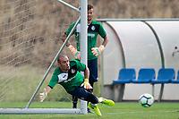 Getafe CF's Sergio Valero (l) and Filip Manojlovic during training session. August 1,2017.(ALTERPHOTOS/Acero) /NortePhoto.com