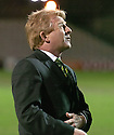 30/01/2008    Copyright Pic: James Stewart.File Name : sct_09_motherwell_v_celtic.CELTIC MANAGER GORDON STRACHAN ON THE PITCH AFTER THE GAME AGAINST MOTHERWELL WAS CALLED OFF JUST 45 MINS BEFORE KICK OFF.James Stewart Photo Agency 19 Carronlea Drive, Falkirk. FK2 8DN      Vat Reg No. 607 6932 25.Studio      : +44 (0)1324 611191 .Mobile      : +44 (0)7721 416997.E-mail  :  jim@jspa.co.uk.If you require further information then contact Jim Stewart on any of the numbers above.........