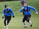 Lewis Macleod and Jon Daly slugging it out in the sprints
