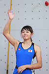 /Futaba Ito (JPN), <br /> AUGUST 26, 2018 - Sport Climbing : <br /> Women's Combined Final Speed <br /> at Jakabaring Sport Center Sport Climbing <br /> during the 2018 Jakarta Palembang Asian Games <br /> in Palembang, Indonesia. <br /> (Photo by Yohei Osada/AFLO SPORT)