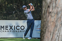 Patrick Cantlay (USA) watches his tee shot on 16 during the preview of the World Golf Championships, Mexico, Club De Golf Chapultepec, Mexico City, Mexico. 2/28/2018.<br /> Picture: Golffile | Ken Murray<br /> <br /> <br /> All photo usage must carry mandatory copyright credit (&copy; Golffile | Ken Murray)