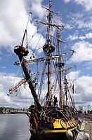 Nederland - Zaandam- 2020.  Het Russische schip de Shtandart. Het is een replica van het schip dat tsaar Peter de Grote in 1703 in Sint Petersburg liet bouwen na zijn bezoek aan Zaandam. Foto ANP / Hollandse Hoogte / Berlinda van Dam