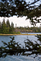 The rugged Lake Superior shoreline at Merritt Lane at Isle Royale National Park in Michigan USA.