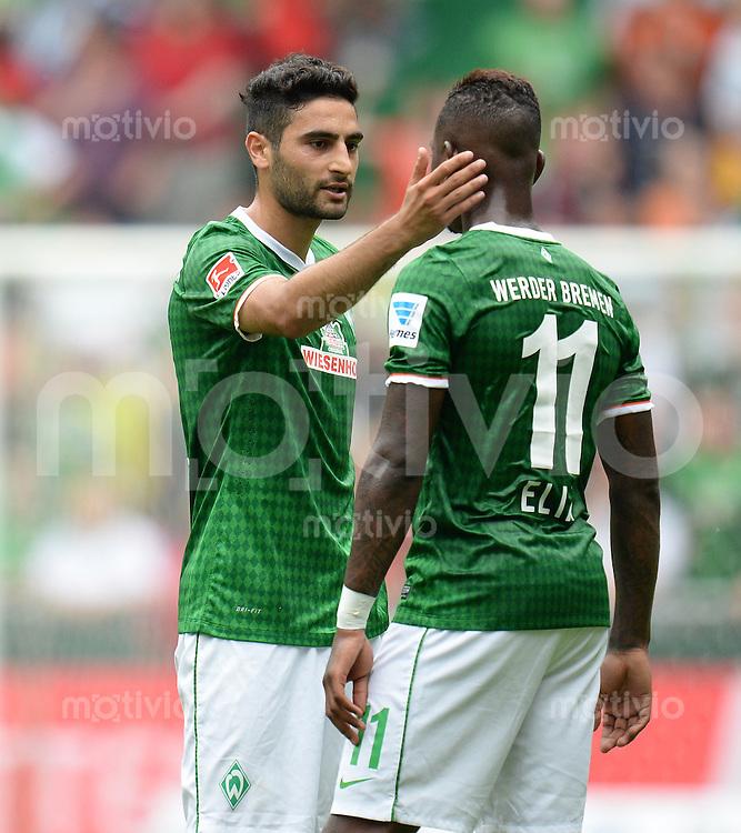FUSSBALL   1. BUNDESLIGA   SAISON 2013/2014   TESTSPIEL  SV Werder Bremen - FC Fulham         28.07.2013 Mehmet Ekici (li) und Eljero Elia (re, beide SV Werder Bremen)