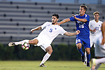 27 September 2016: Georgia State's Nick Hague (ENG) (5) and Duke's Cody Brinkman (25). The Duke University Blue Devils hosted the Georgia State University Panthers at Koskinen Stadium in Durham, North Carolina in a 2016 NCAA Division I Men's Soccer match. Georgia State won the game 2-1 in two overtimes.
