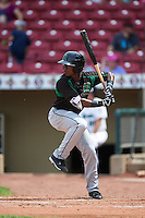 Dayton Dragons second baseman Shed Long (5) at bat during a game against the Cedar Rapids Kernels on July 24, 2016 at Perfect Game Field in Cedar Rapids, Iowa.  Cedar Rapids defeated Dayton 10-6.  (Mike Janes/Four Seam Images)