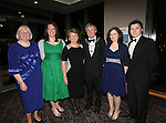 21/2/2015.   Attending the Lions Club 50th Anniversary Ball in the Strand Hotel were Lena and Noel Sexton, President(centre), Caherdavin with their family Jocelyn Sexton, Adare, Emily Sexton, Caherdavin,  Harriett and Keith Morel, Dooradoyle. <br /> Photograph Liam Burke/Press 22