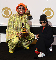 LOS ANGELES - FEBRUARY 10: Anderson .Paak, winner of Best Rap Performance 'Bubblin' in the press room with Soul Rasheed at the 61st Grammy Awards at Staples Center on February 10, 2019 in Los Angeles, California. (Photo by Frank Micelotta/PictureGroup)