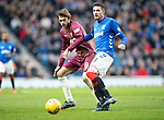 Rangers v St Johnstone&hellip;16.02.19&hellip;   Ibrox    SPFL<br />Kyle Lafferty and Murray Davidson<br />Picture by Graeme Hart. <br />Copyright Perthshire Picture Agency<br />Tel: 01738 623350  Mobile: 07990 594431