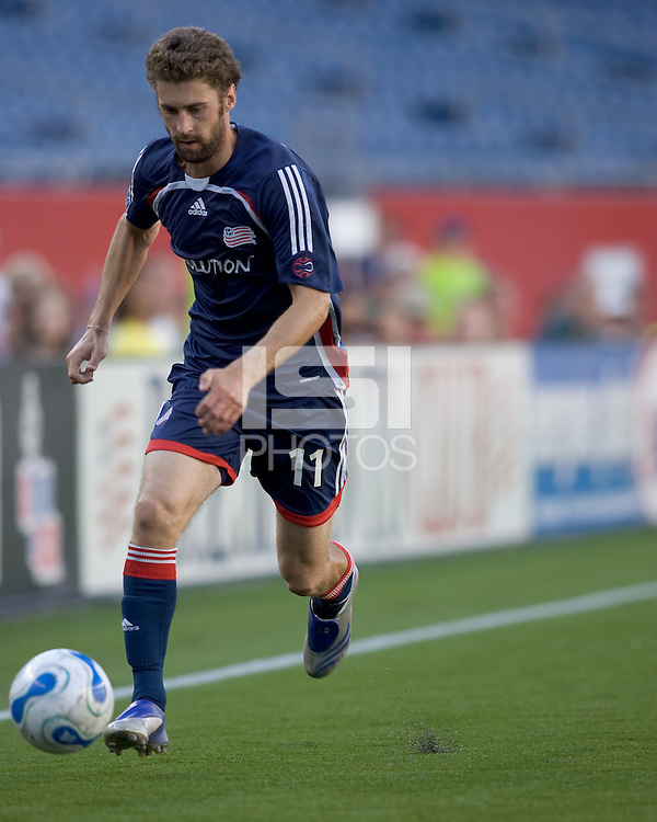 New England Revolution (11) Pat Noonan. DC United defeated the New England Revolution, 3-0, at Gillette Stadium, Foxborough, MA on August 5, 2007.