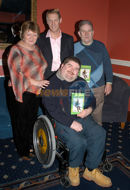 18-11-03 - Launch of Graham Geraghty biography 'Misunderstood' at the Old Darnley Lodge Hotel, Athboy, County Meath..Friends of Grahm are the Crinion familyJoan, Gerry and Des Crinion. .Photo:Barry Cronin/Newsfile.