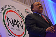 January 15, 2013  (Washington, DC)  Martin Luther King III speaks at the National Action Network's King Day luncheon at the Hyatt Regency in Washington. (Photo by Don Baxter/Media Images International)