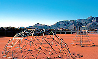 R. Buckmister Fuller: Fuller Dome Structure, Playground. Phoenix, Arizona.  Photo '77.