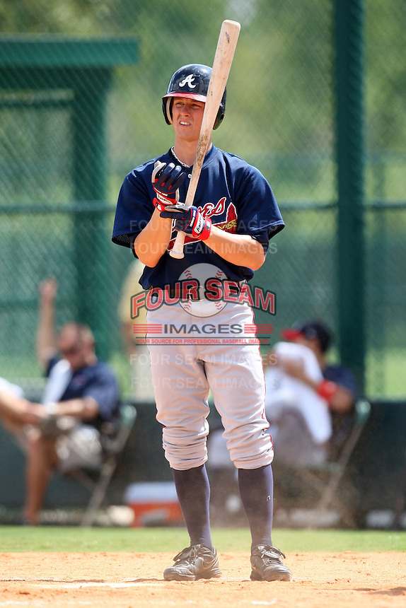 October 6, 2009:  Outfielder Cory Harrilchak of the Atlanta Braves organization during an Instructional League game at Disney's Wide World of Sports in Orlando, FL.  Harrilchak was drafted in the 14th round of the 2009 MLB Draft.  Photo by:  Mike Janes/Four Seam Images