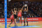 7th September 2017, Te Rauparaha Arena, Wellington, New Zealand; Taini Jamison Netball Trophy; New Zealand versus England;  Silver Ferns Maria Tutaia (R) looks to shoot