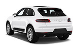 Car pictures of rear three quarter view of a 2018 Porsche Macan Base 5 Door SUV angular rear