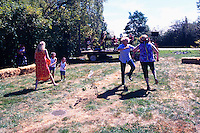 5th Annual Garlic Festival, August 2013 (hosted by The Sharing Farm) at Terra Nova Rural Park, Richmond, BC, British Columbia, Canada - Garlic Lovers dance to Live Music