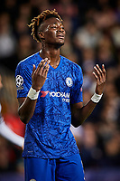 27th November 2019; Mestalla, Valencia, Spain; UEFA Champions League Footballl,Valencia versus Chelsea; Tammy Abraham of Chelsea reacts to a missed goal chance - Editorial Use