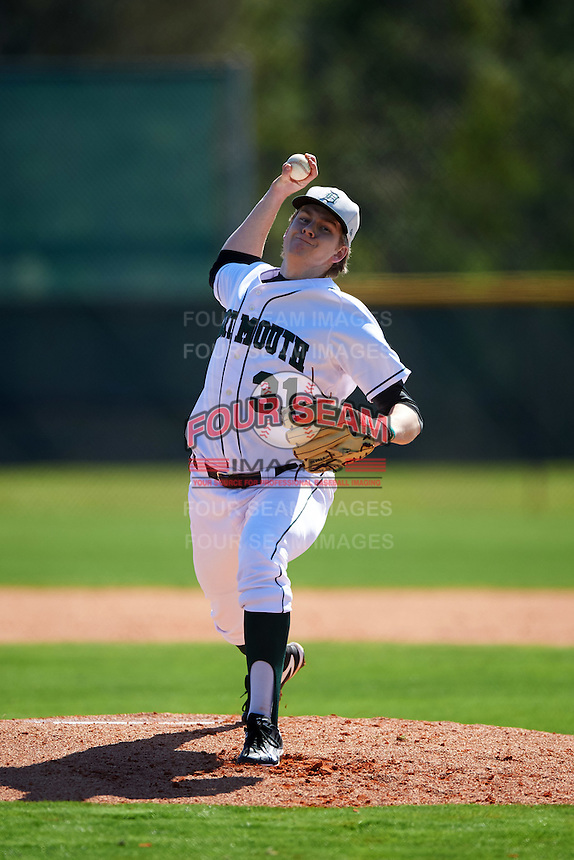 Dartmouth Big Green starting pitcher Duncan Robinson (31) during a game against the Iowa Hawkeyes on February 27, 2016 at South Charlotte Regional Park in Punta Gorda, Florida.  Iowa defeated Dartmouth 4-1.  (Mike Janes/Four Seam Images)
