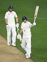 England captain Joe Root, 50 not out.<br /> New Zealand Blackcaps v England. 1st day/night test match. Eden Park, Auckland, New Zealand. Day 4, Sunday 25 March 2018. &copy; Copyright Photo: Andrew Cornaga / www.Photosport.nz