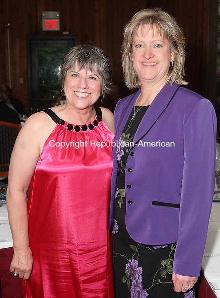 Southbury, CT-31 May 2008-053108MK16 (from left) Virgina Vallillo and Dr. Carol Mancini gathered at The Heritage Hotel for the Habitat for Humanity 3rd Annual Gala   in Southbury. Michael Kabelka / Republican-American  ((from left) Virgina Vallillo and Dr. Carol Mancini )CQ