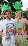 Jake Goldstein and Amy Dinn at the 2010 Art Car Ball at the Orange Show Monument & Warehouse Thursday May 06,2010.  (Dave Rossman Photo)