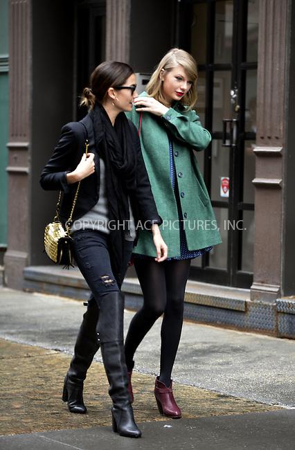 WWW.ACEPIXS.COM<br /> <br /> March 28 2014, New York City<br /> <br /> Taylor Swift (R) and Lily Aldridge go for a stroll in Tribeca on March 28 2014 in New York City<br /> <br /> By Line: Curtis Means/ACE Pictures<br /> <br /> <br /> ACE Pictures, Inc.<br /> tel: 646 769 0430<br /> Email: info@acepixs.com<br /> www.acepixs.com