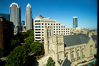 Photography of the First United Methodist Church in  downtown Charlotte, North Carolina.<br /> <br /> Charlotte Photographer -PatrickSchneiderPhoto.com