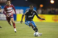 Kei Kamara carries the ball. .The San Jose Earthquakes tied FC Dallas 0-0, at Buck Shaw Stadium, in Santa Clara, California, Saturday, May 3, 2008. .