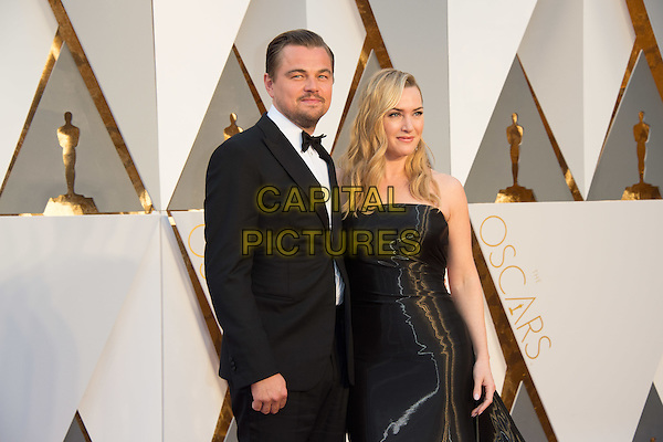 Oscar&reg;-nominees, Leonardo DiCaprio and Kate Winslet, arrive at The 88th Oscars&reg; at the Dolby&reg; Theatre in Hollywood, CA on Sunday, February 28, 2016.<br /> *Editorial Use Only*<br /> CAP/PLF<br /> Supplied by Capital Pictures